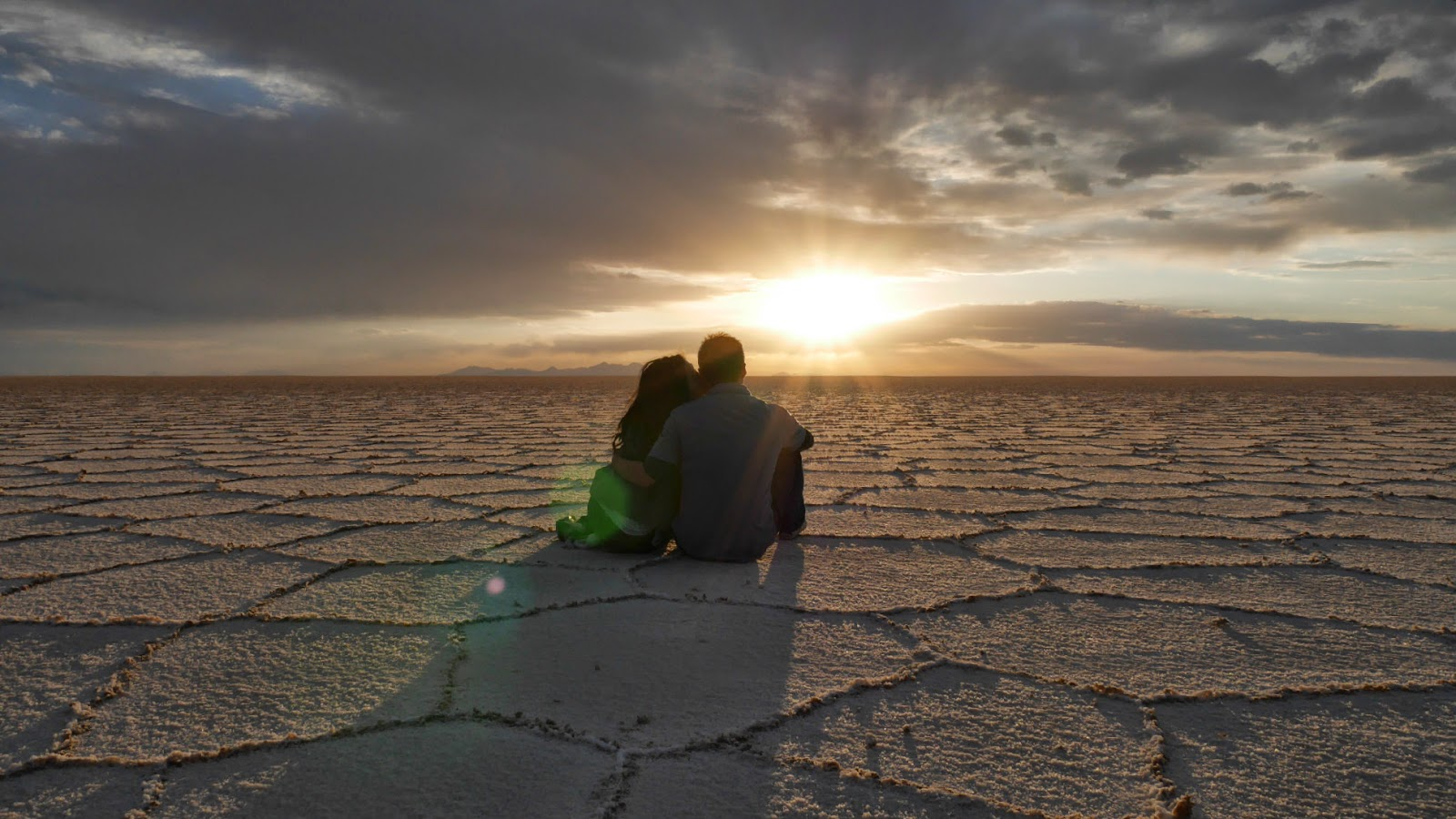 Sunset at the Salar de Uyuni, Bolivia