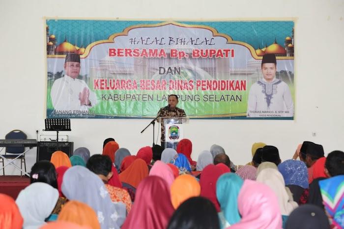 Dinas Pendidikan Lampung Selatan Gelar Halalbihalal Bersama Plt Bupati Nanang Ermanto.