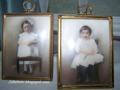 Portraits of Violetta and Velma on opalotype https://jollettetc.blogspot.com