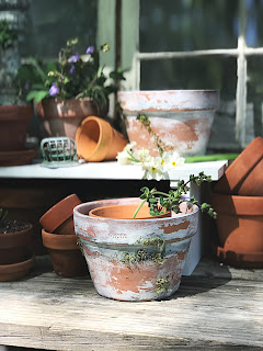 How to Age New Clay Pots.  Step by Step instructions.