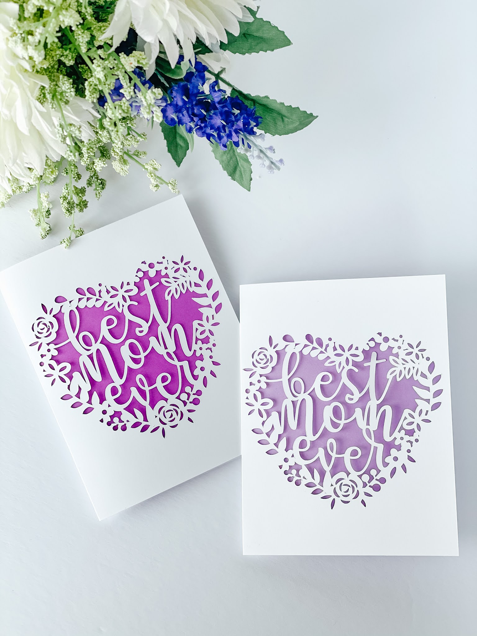 Best Mom Ever Paper Cut Mother's Day Card