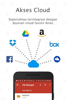 Aplikasi Android untuk penyimpanan cloud awan