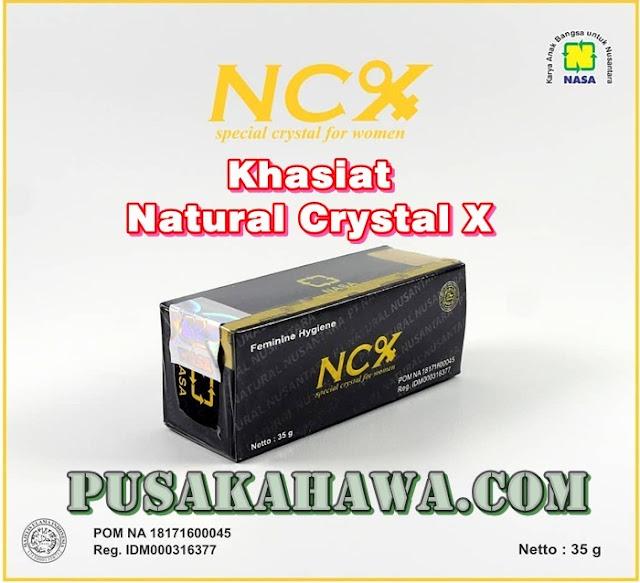 manfaat ncx nasa khasiat crystal x