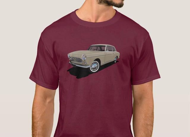 Stylish beige Peugeot 404 Coupé T-shirt
