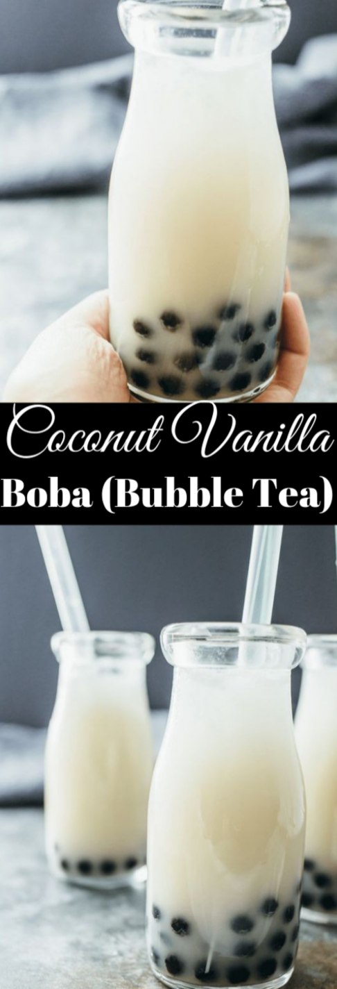 COCONUT BUBBLE TEA #coconut #drink #bubble #milktea #cocktail