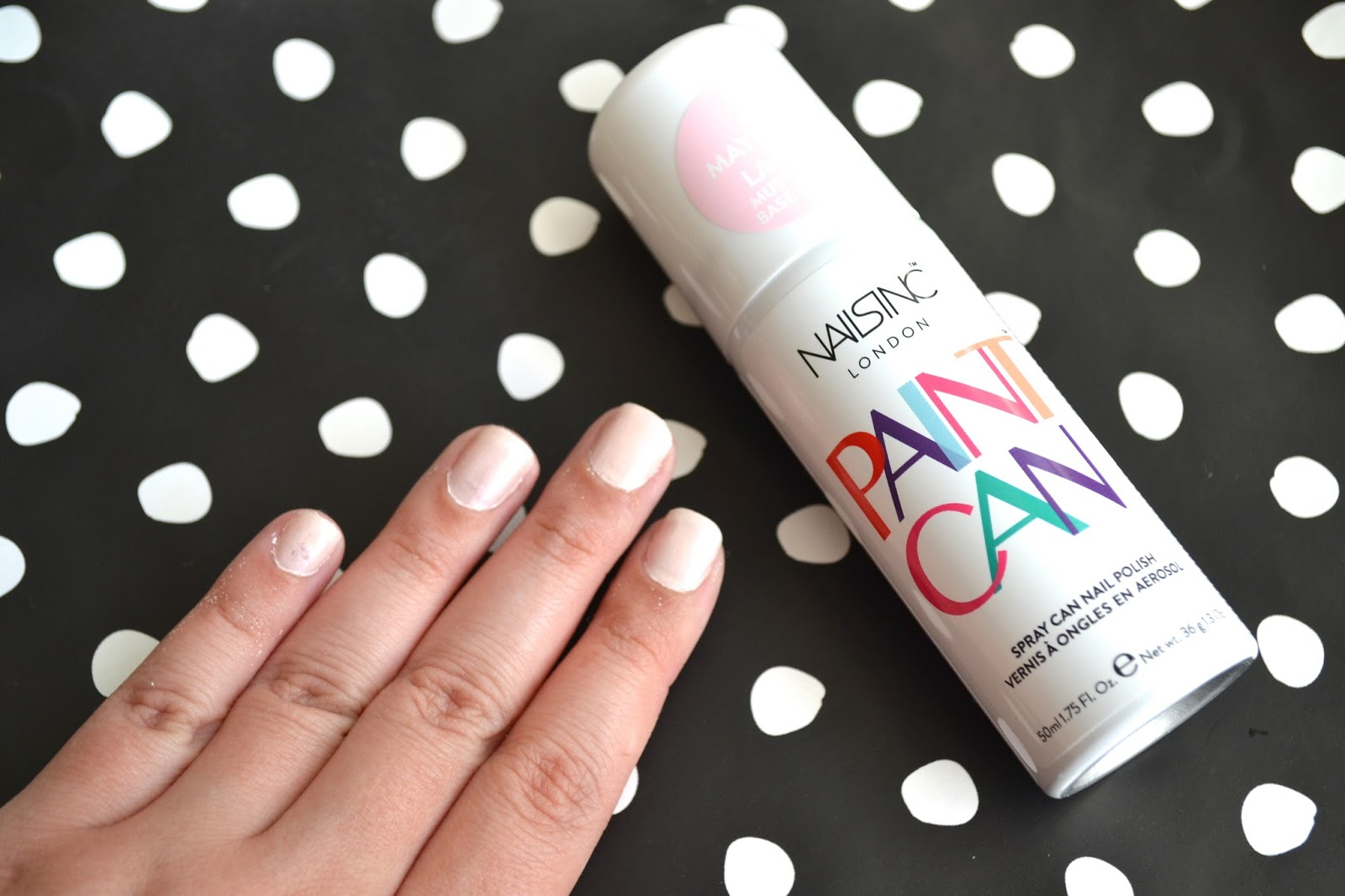 Spray on nail polish china glaze nail spray reviews - My Nails Are Done With The Top Coat And I Washed Off The Excess That Was On My Skin I Messed Up My Pinky Nail When I Was Applying The Top Coat