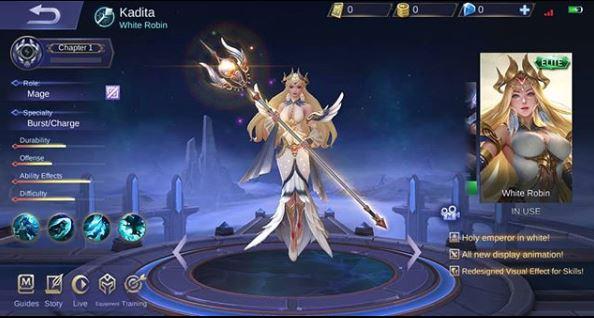 Skin Special Kadita - White Robin