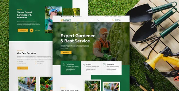 Best Landscape and Gardening Elementor Template Kit