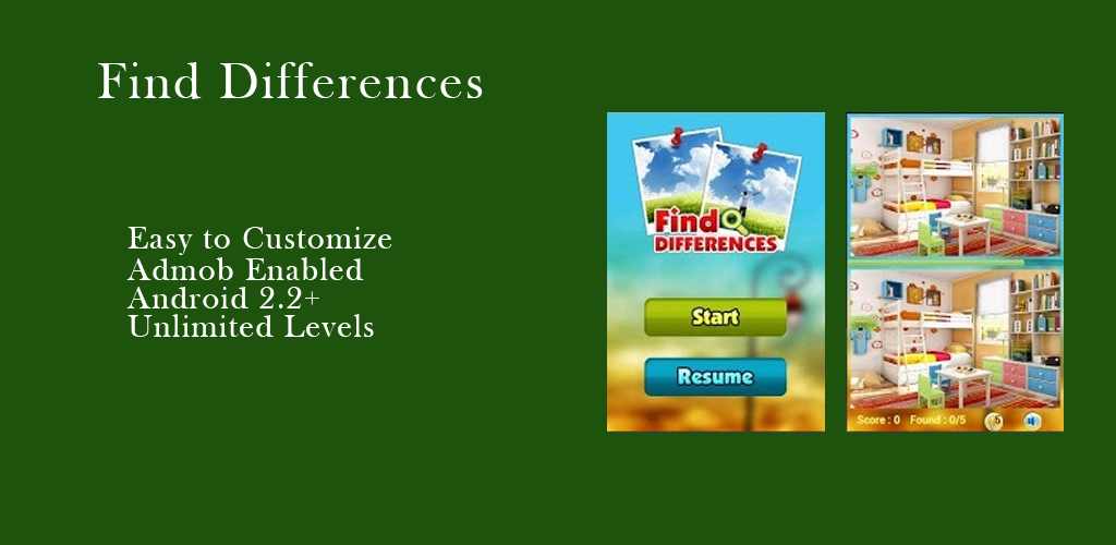Find Difference Android Game Source Code - Download Free - Android