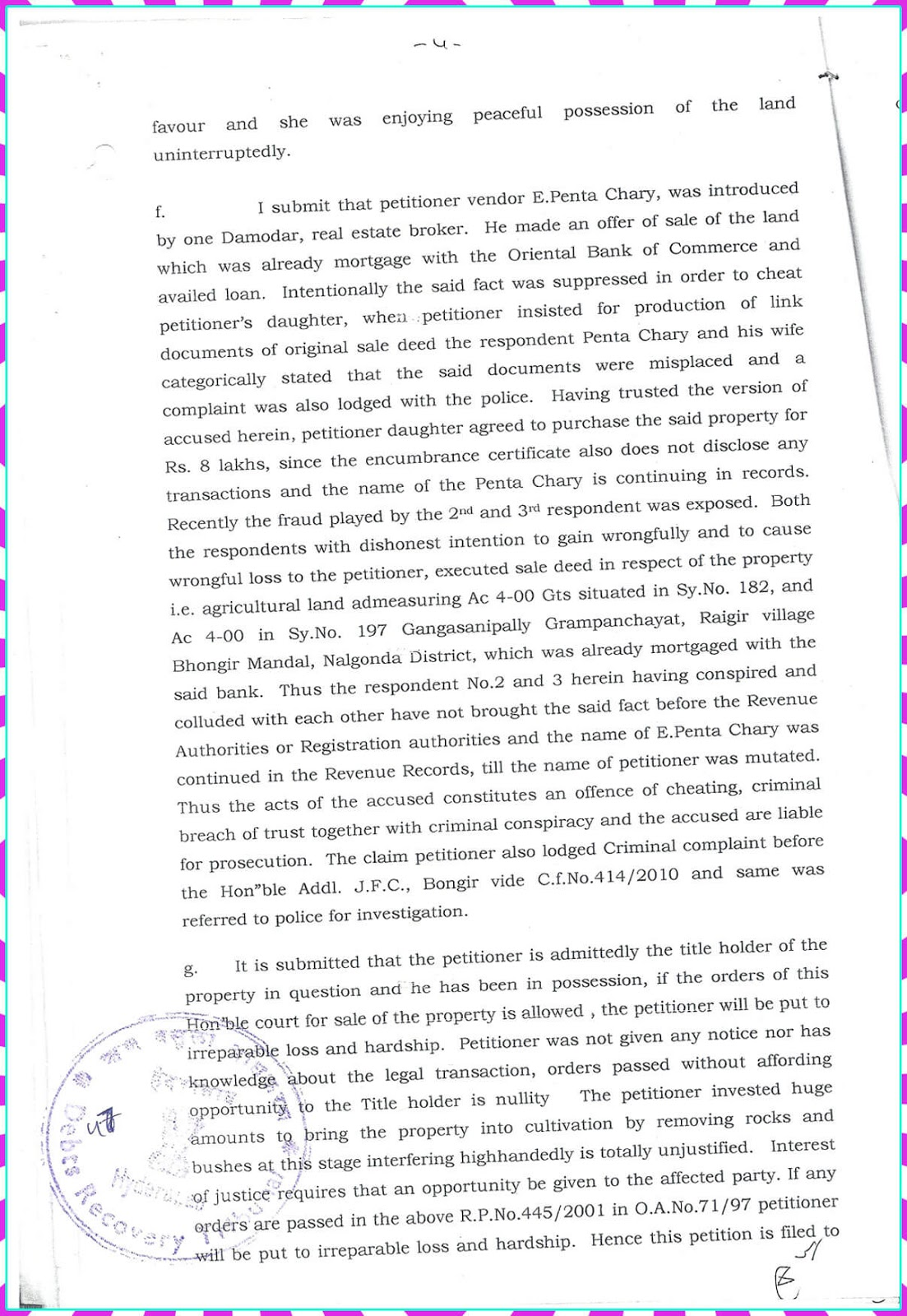 Claim Petition.No. 9 of 2010-D.R.T-1 Hyderabad-4