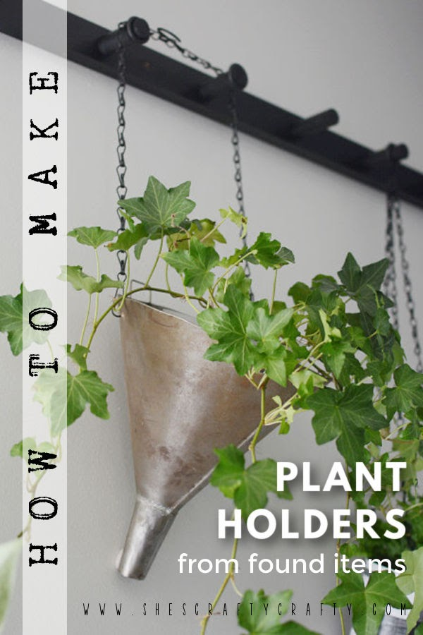How to make Plant Holders from found items.