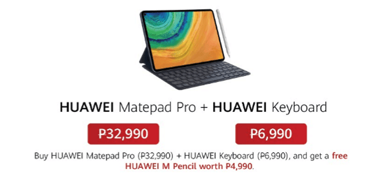 MatePad Pro bundled with the Huawei Keyboard for a FREE M Pen