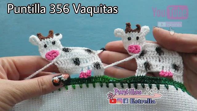 Tutorial Puntilla o Terminación de Vaquita a Crochet