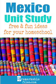 This Mexico unit study is packed with activities, crafts, book lists, and recipes for kids of all ages! Make learning about Mexico in your homeschool even more fun with these free ideas and resources. #Mexico #spanish #homeschool