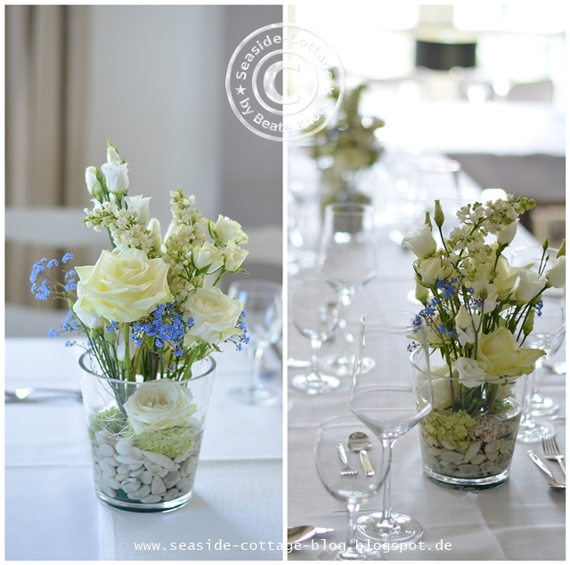 Tischdeko konfirmation blumen  Seaside-Cottage-Blog: Floristik: Tischdeko für die Konfirmation ...