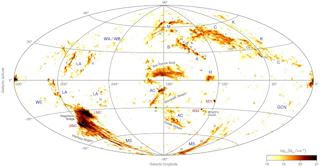 Astronomer's map reveals location of mysterious fast-moving gas