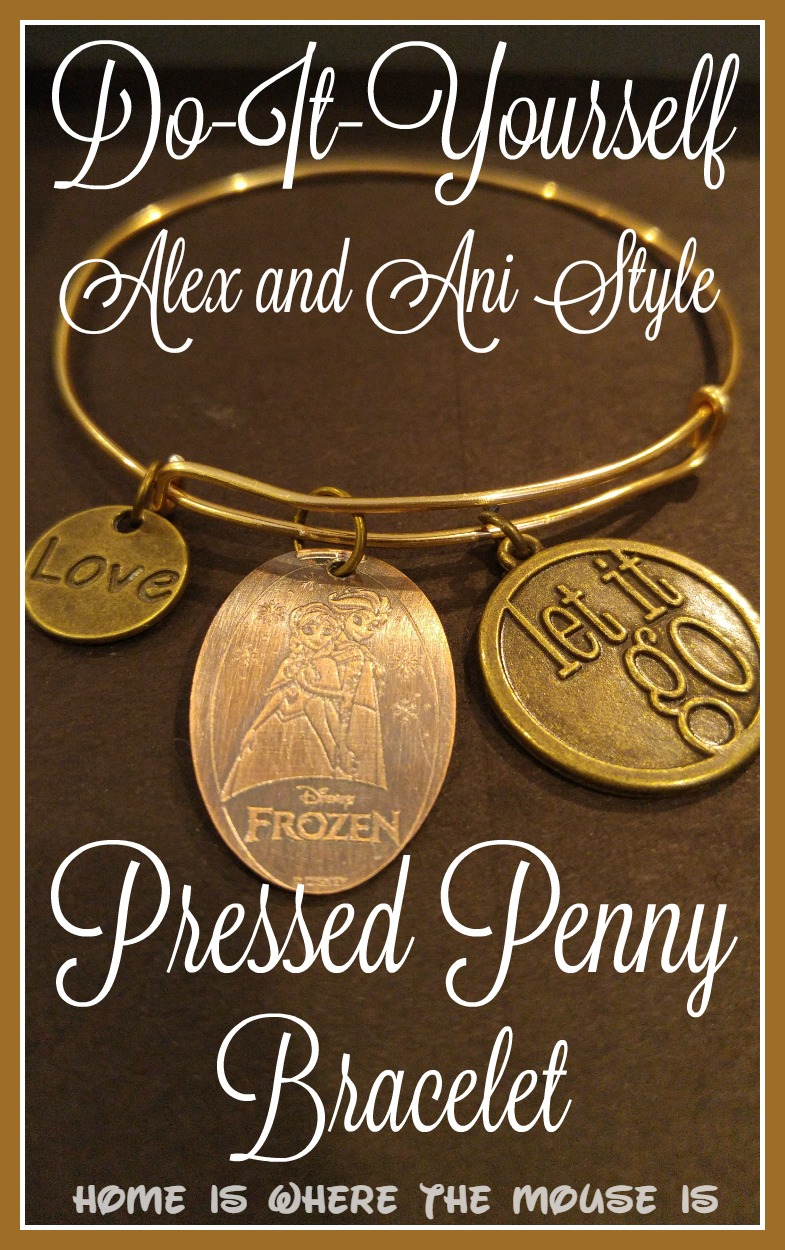 How to make your own alex and ani style disney bracelet for Create your own penny