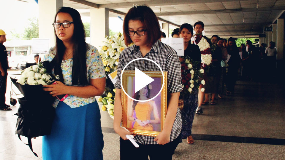 The Funeral Ceremony of Poe Sandar Khin, Miss Myanmar World Contestant
