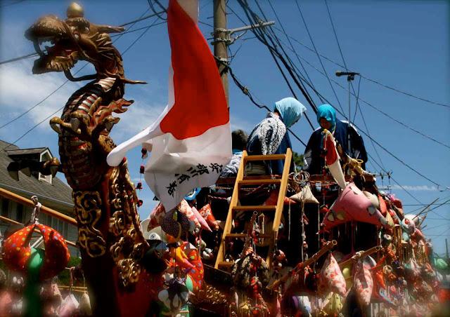 Mifune Matsuri (boat float parade), Oiso Town, Kanagawa