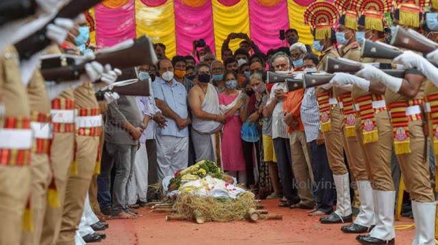 SP Balasubramaniam funeral