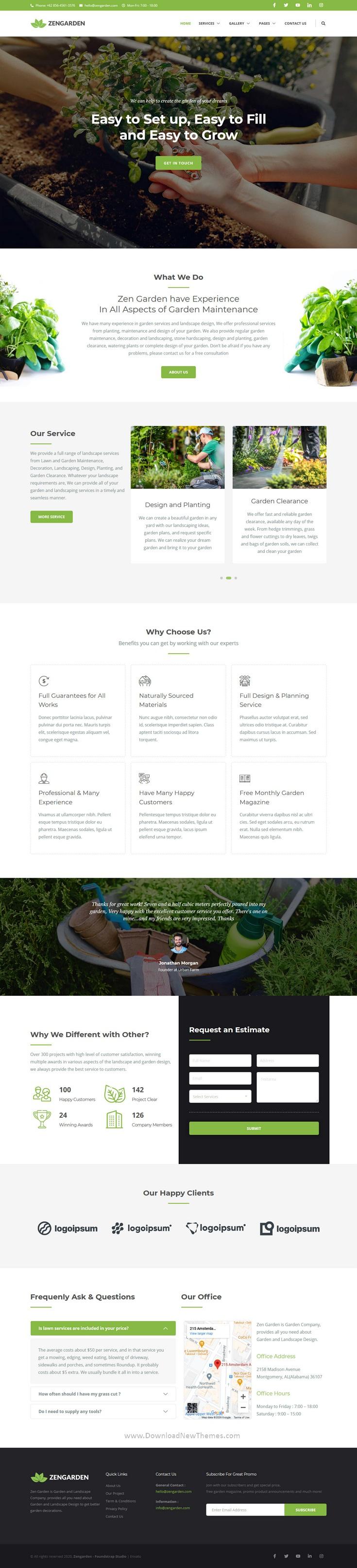 Garden & Landscape Elementor Template Kit