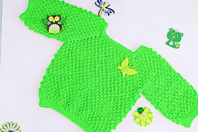 3-Crochet Imagen Jarsey de nina a crochet muy rapido y sencillo por Majovel Crochet