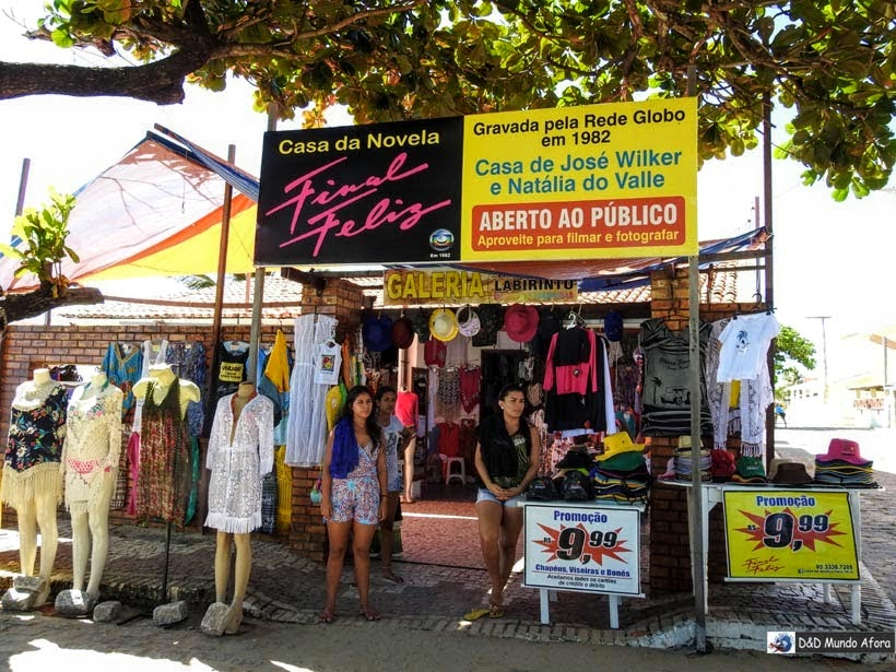 Cenário da novela Final Feliz na Praia de Morro Branco e Praia das Fontes - Tour 3 Praias