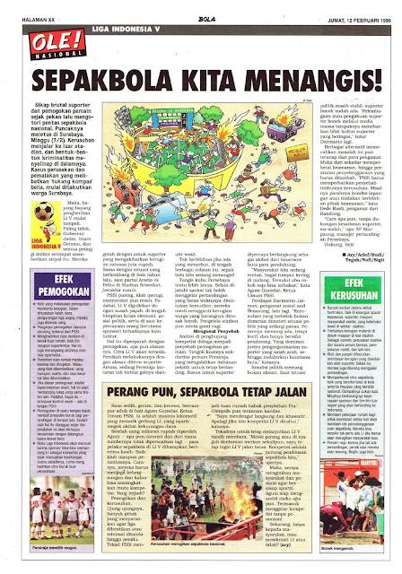 LIGA INDONESIA V: SEPAKBOLA KITA MENANGIS