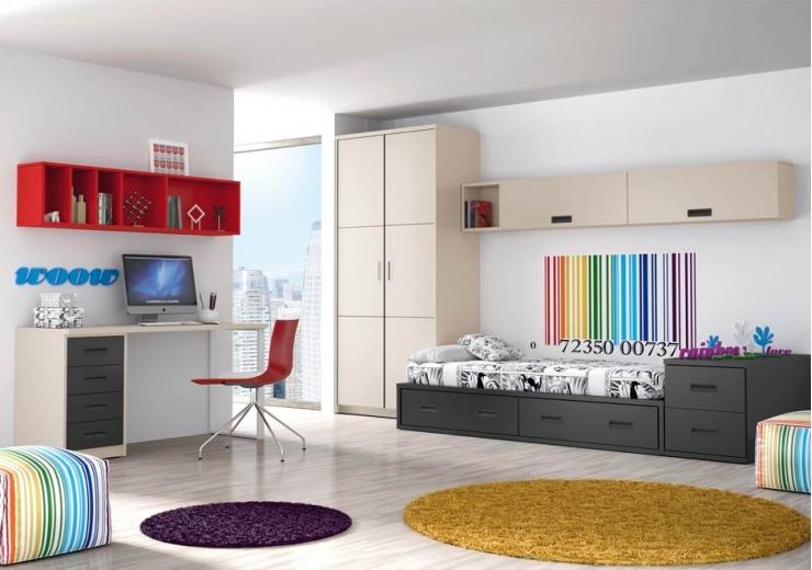 Dormitorios juveniles economicos - Ideas para decorar un estudio ...
