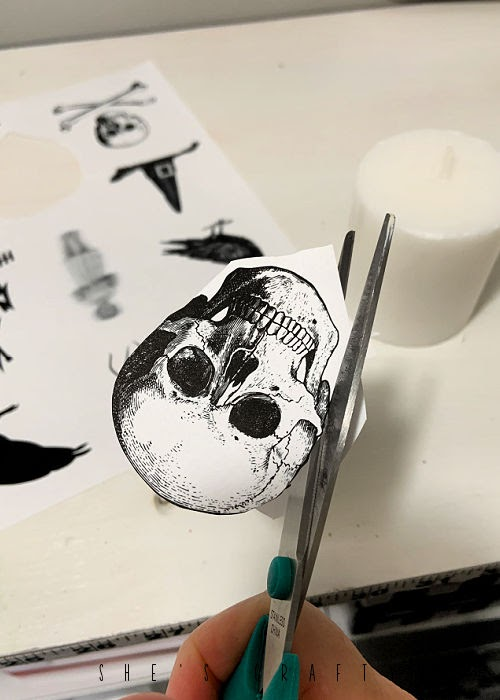 Halloween candles - cut out image printed on white copy paper