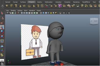 Character model in Maya, Rigging in Maya, Animation Tutorial