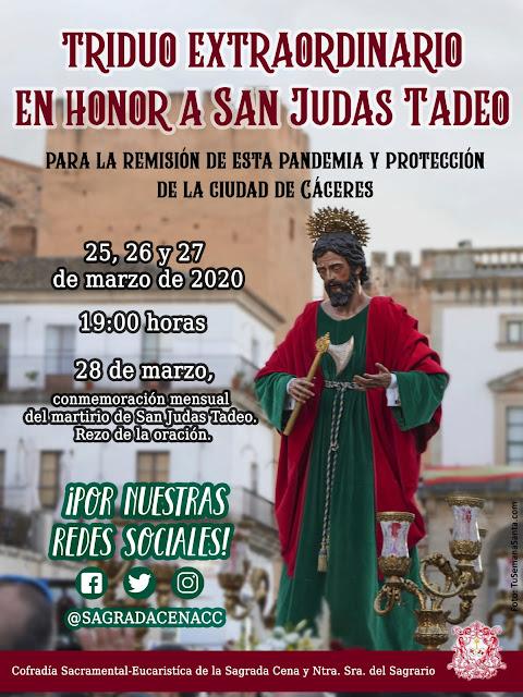 Triduo Extraordinario a San Judas Tadeo