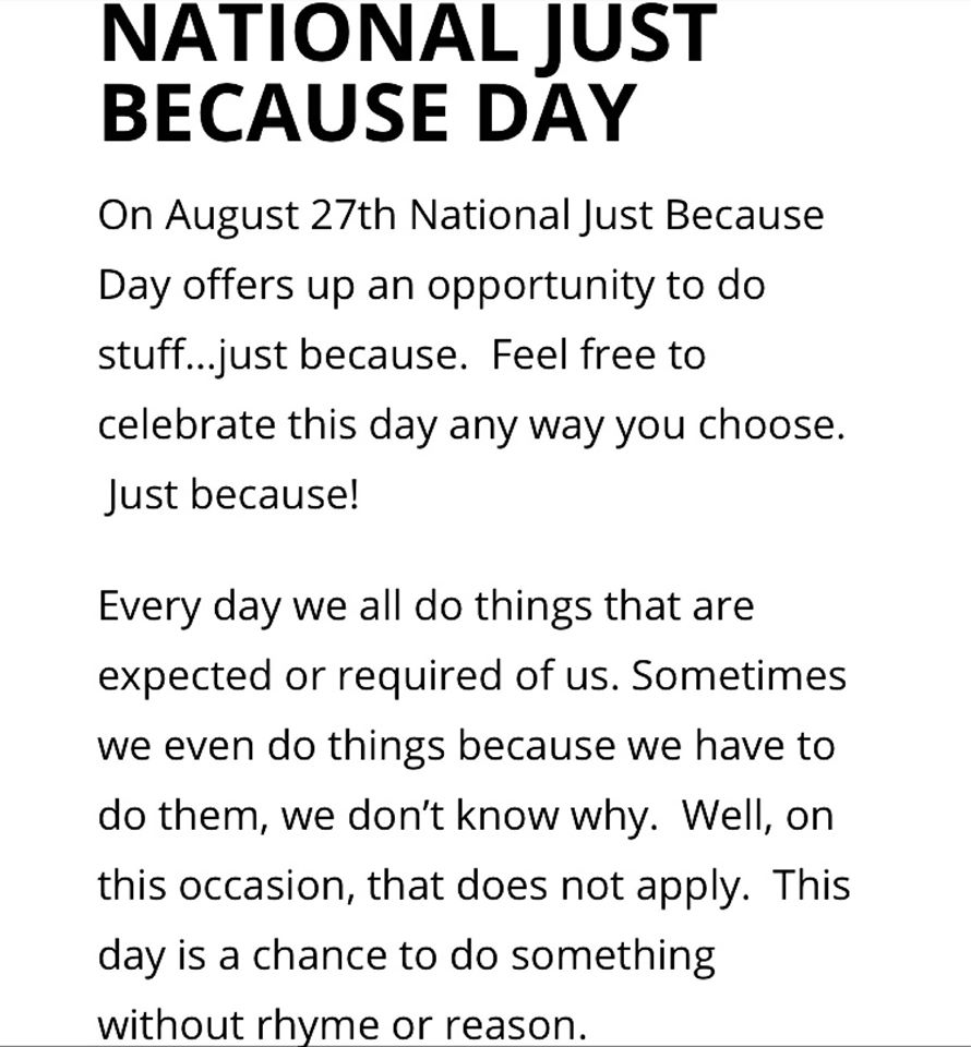 National Just Because Day