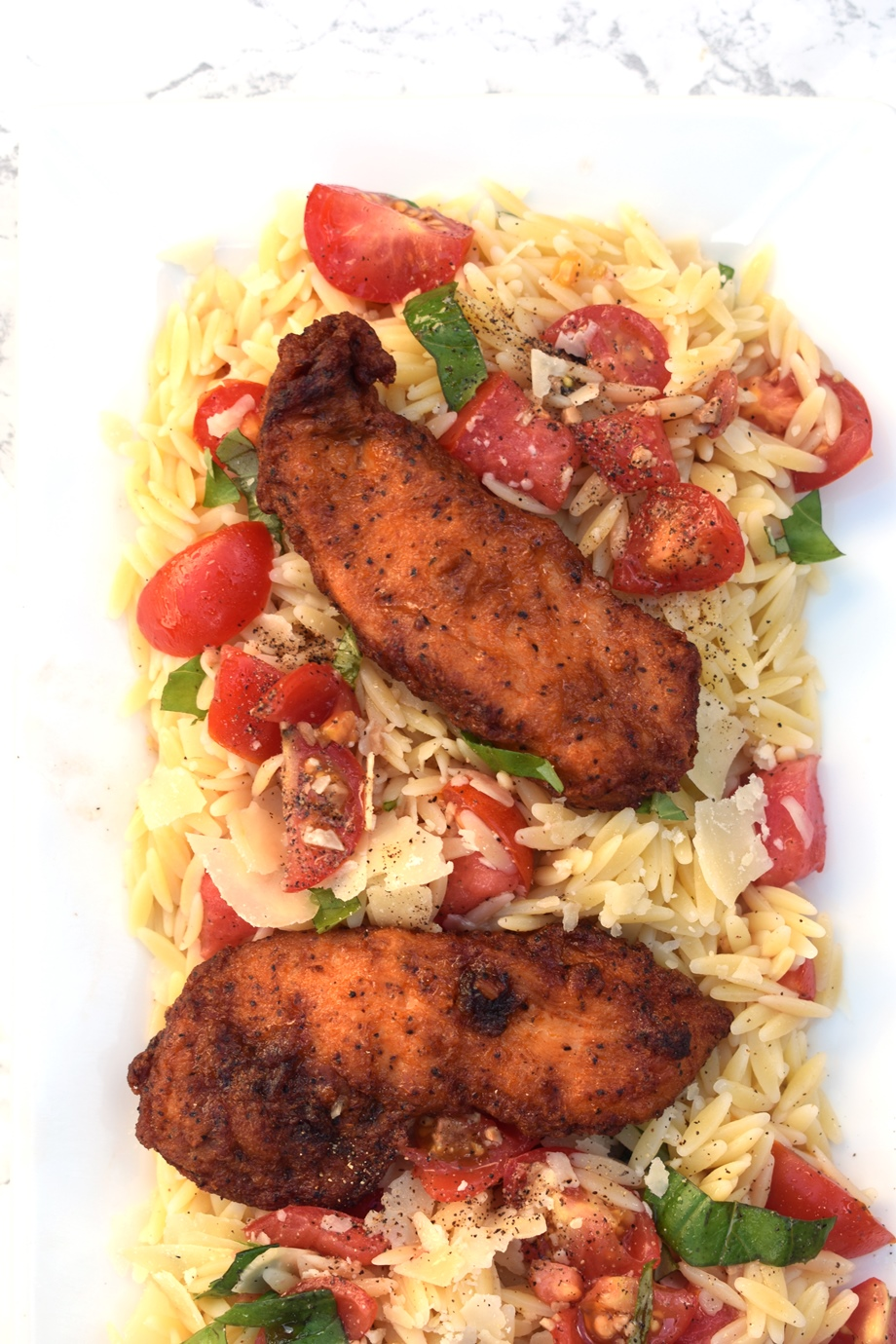 Tomato Chicken Orzo Salad