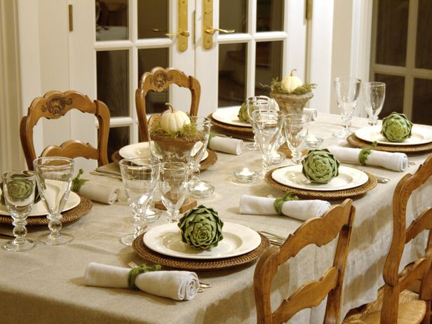 Mesa decorada otoño