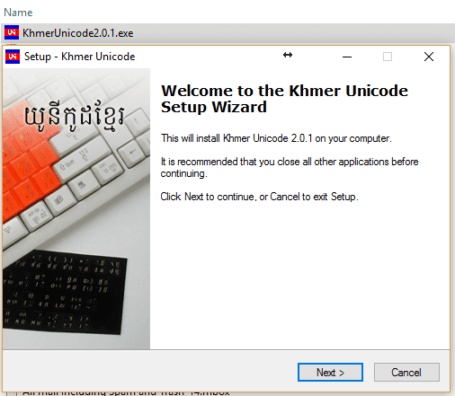 install khmer unicode on windows