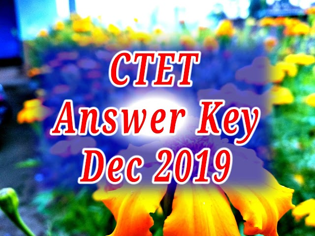 CTET Answer Key December 2019