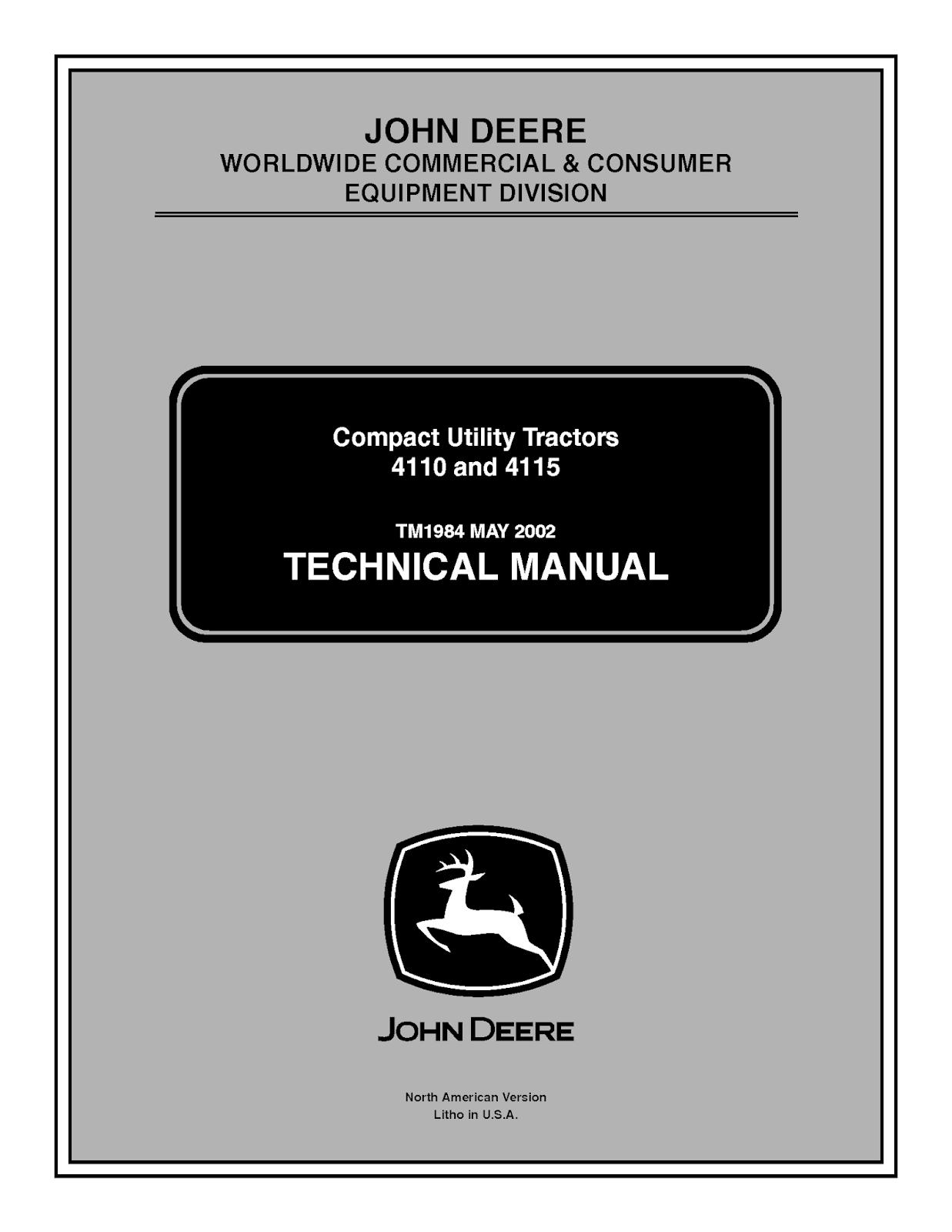 John Deere 4115 Manual