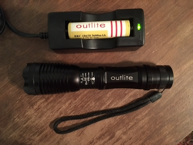 Outlite Flashlight LED Cree XML-T6 Lithium Tactical