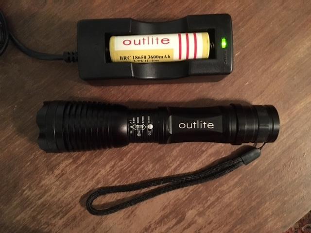 Outlite Flashlight LED Cree XML-T6 Lithium Tactical