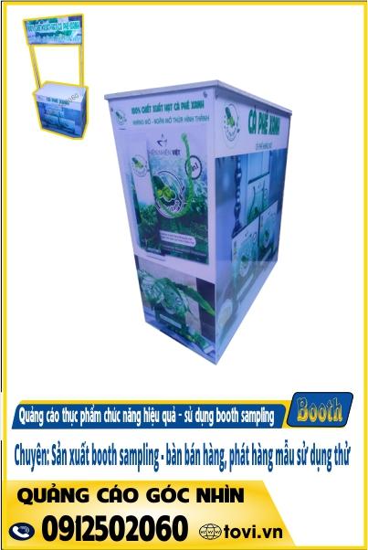 tìm mẫu booth giá rẻ - quảng cáo sản phẩm