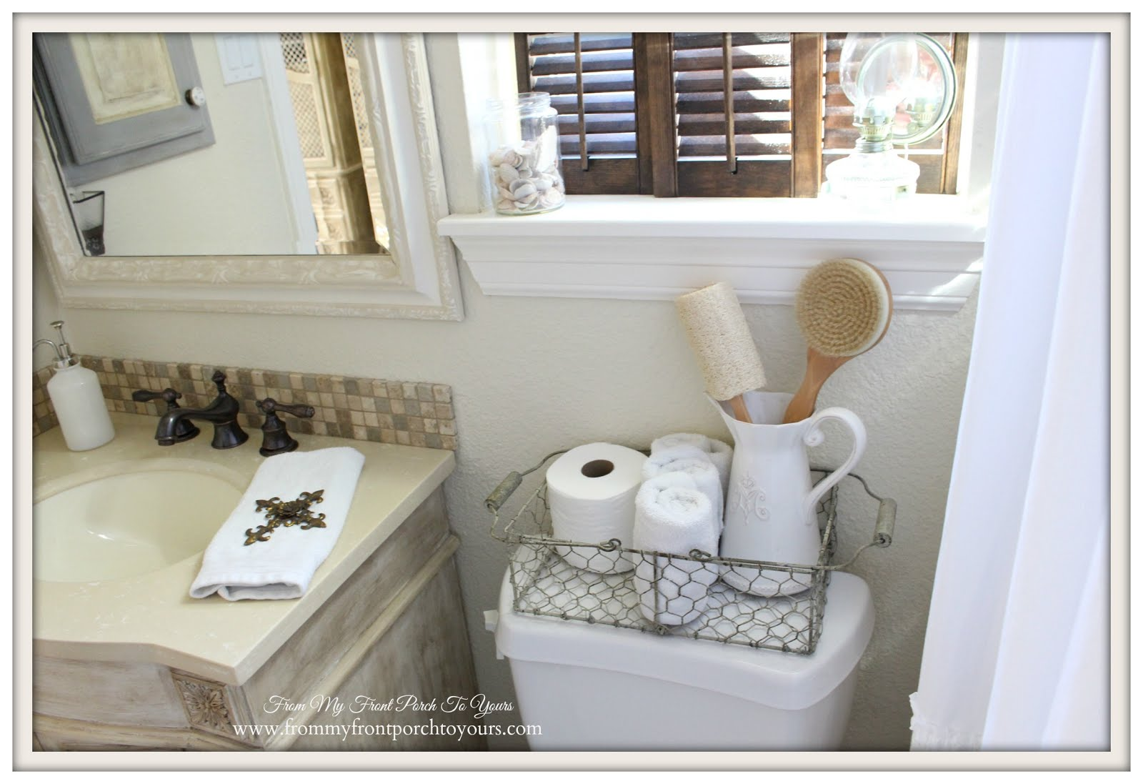 From My Front Porch To Yours: Farmhouse Guest Bathroom