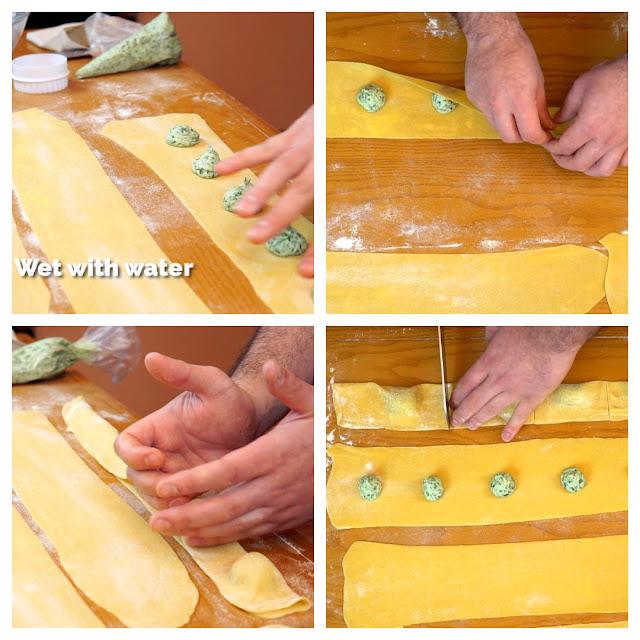 step by step to make ravioli