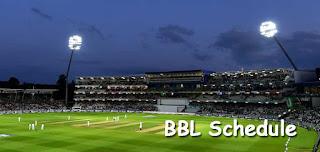 BBL 2019-20 Schedule