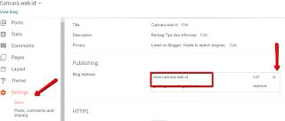 Cara Mengalihkan/ Redirect Domain lama ke Domain Baru di Blogger