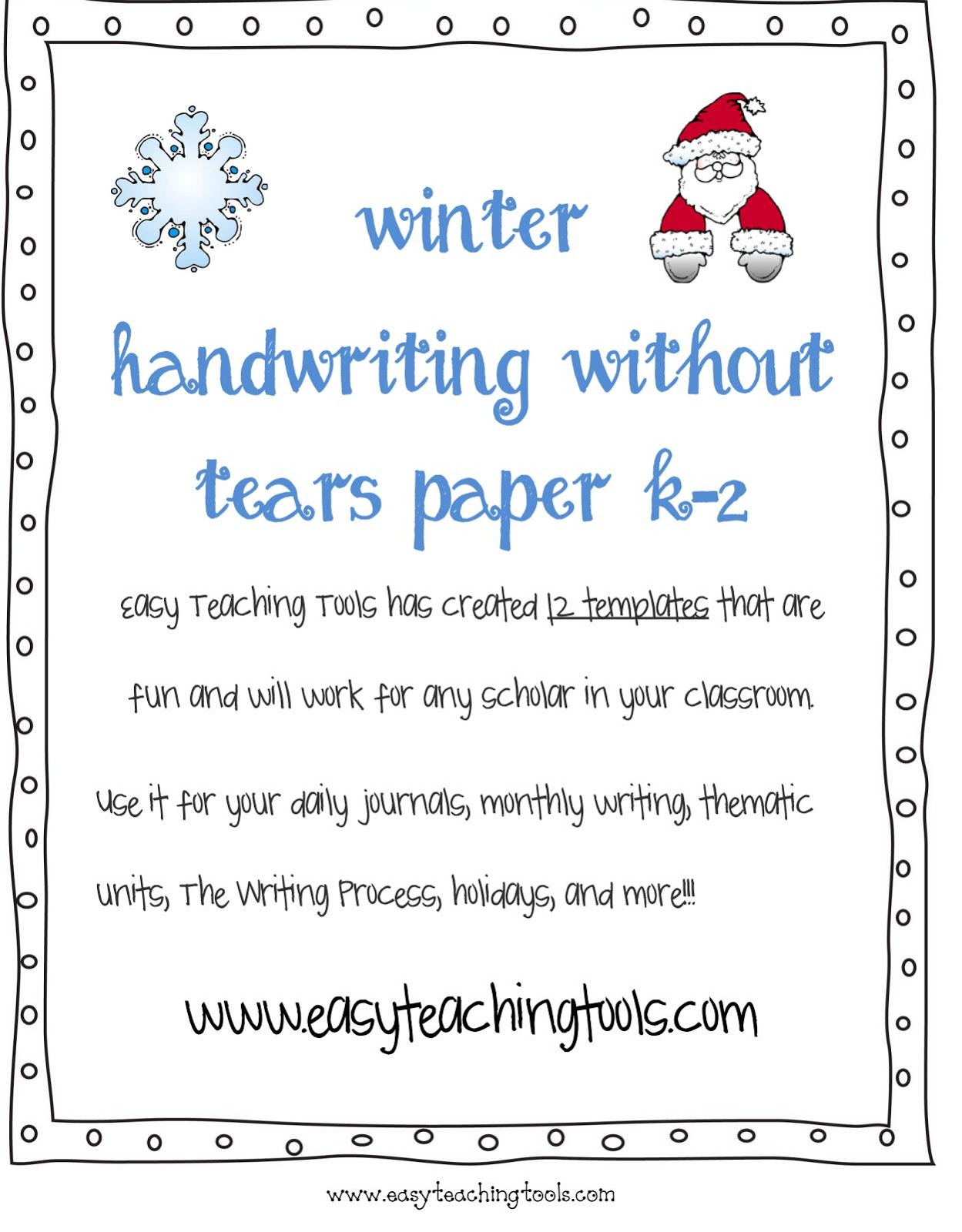 Handwriting Without Tears Easy Teaching Tools