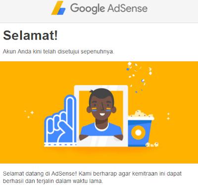 disetujui google adsense