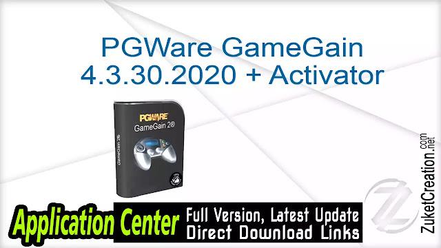 PGWare GameGain 4.3.30.2020 + Activator