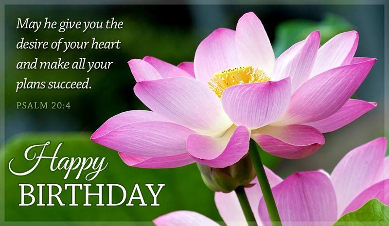 Christian birthday greetings – woman, man, mother