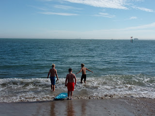 swimming in the solent in september